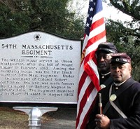 Historical Marker Mass. 54th
