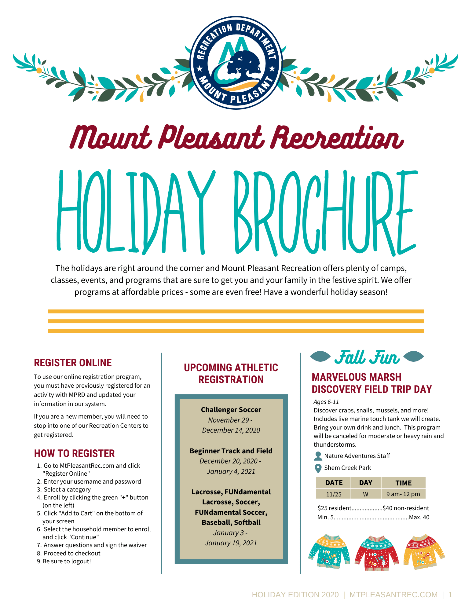 HOLIDAY BROCHURE 2020 FINAL