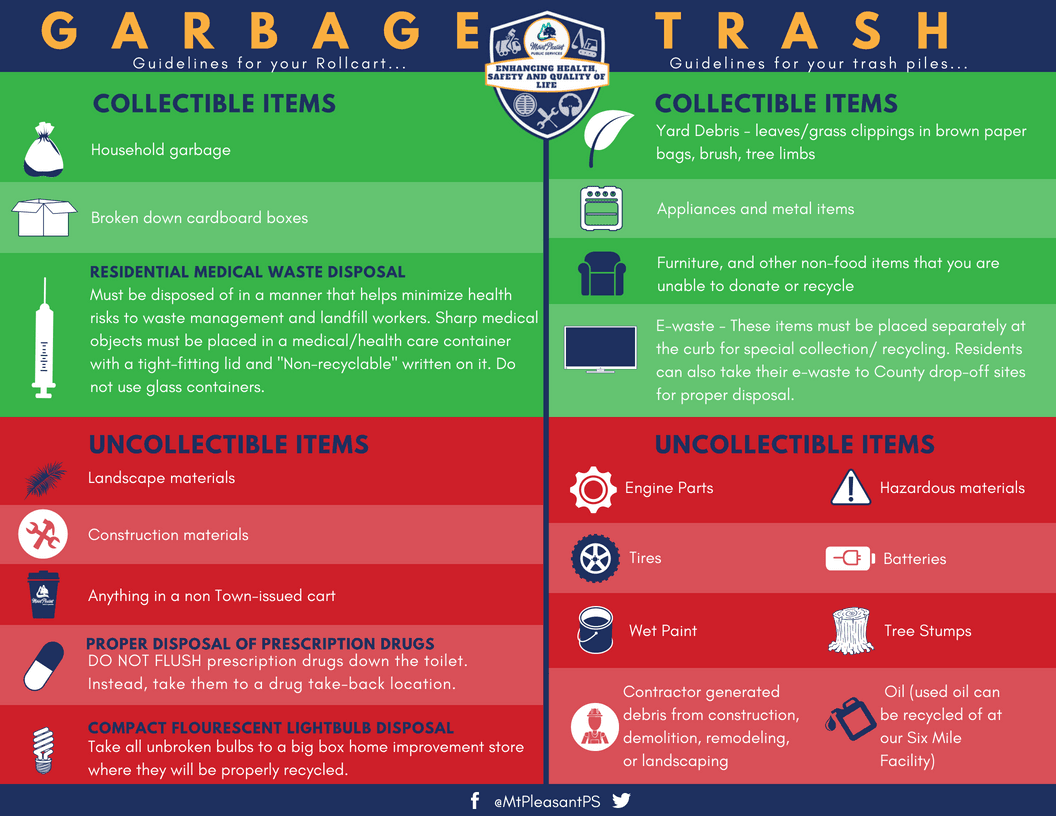 Garbage and Trash Infographic