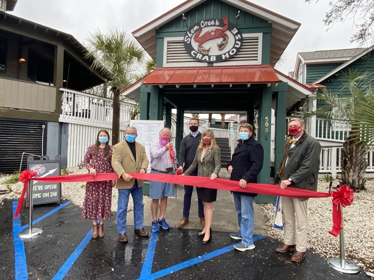 Shem Creek Crab House Ribbon Cutting 1