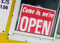 Business Open Sign.