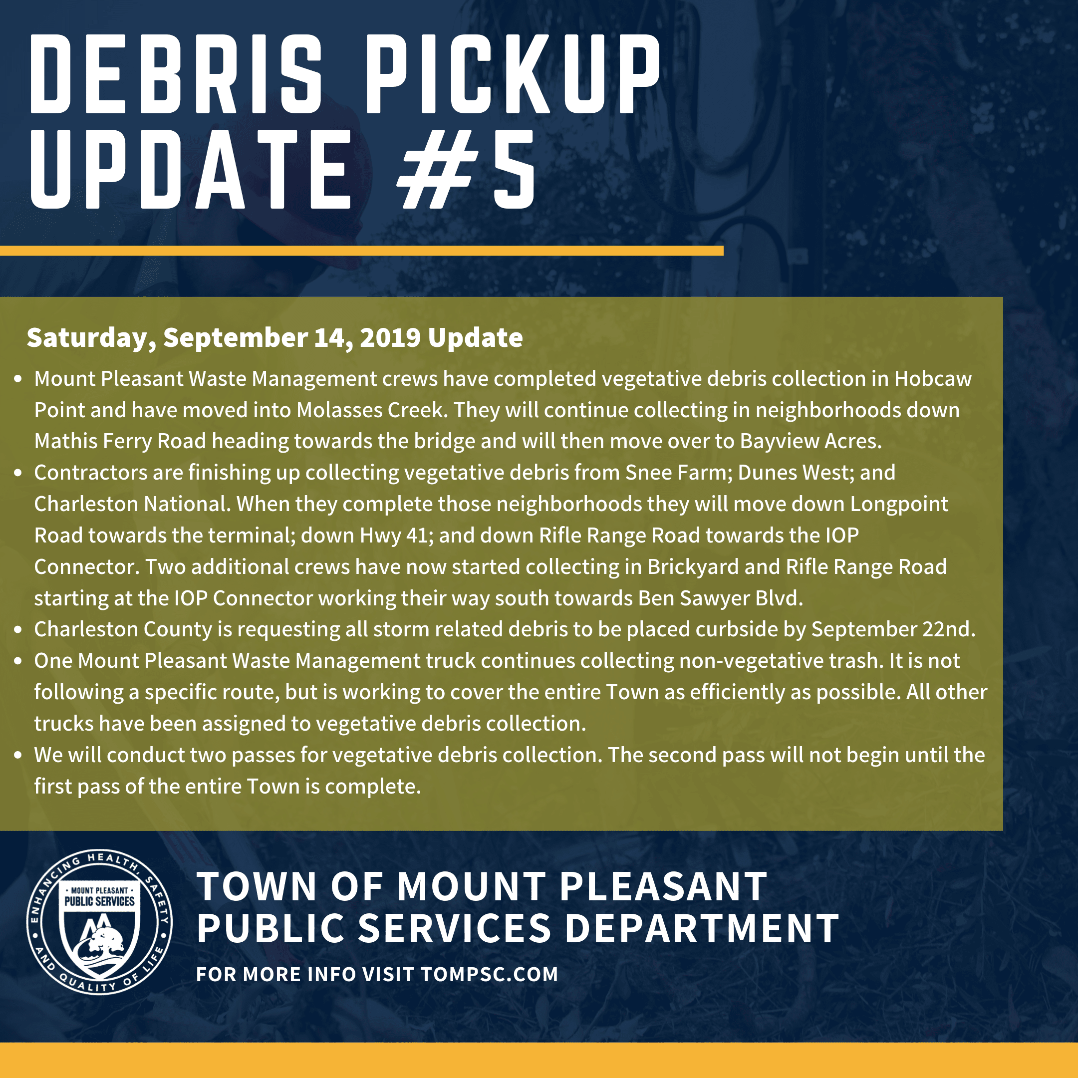 Copy of Debris Pickup Update 3