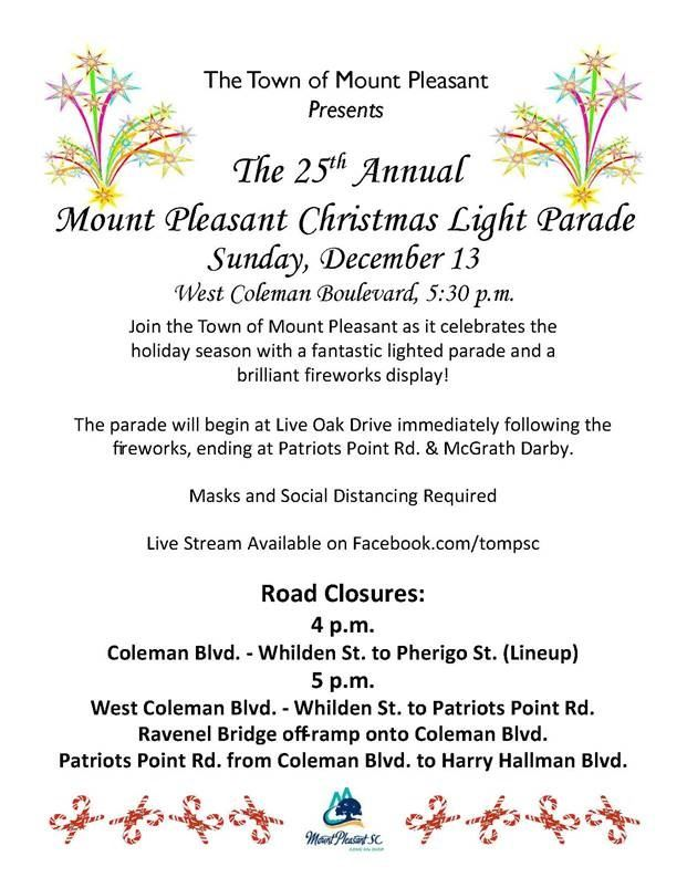 Y102.5 Christmas Events 2021 News Flash Mount Pleasant Sc Civicengage