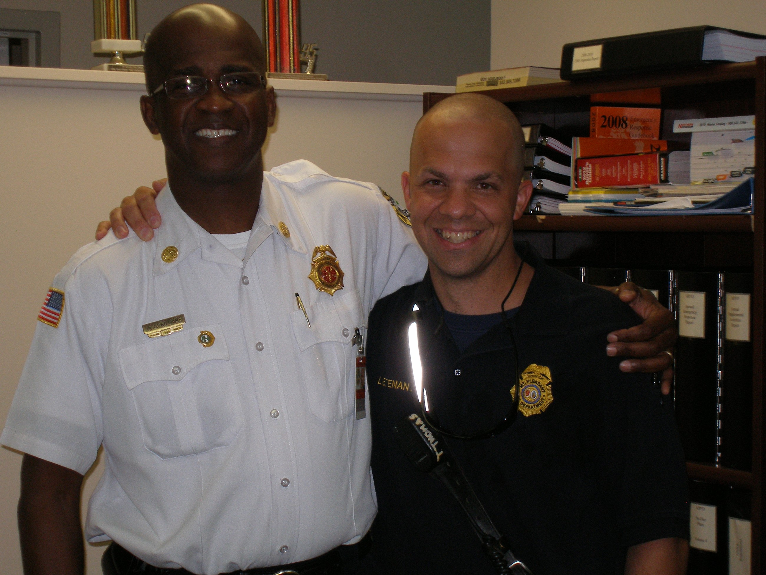 Chief Williams and Troy